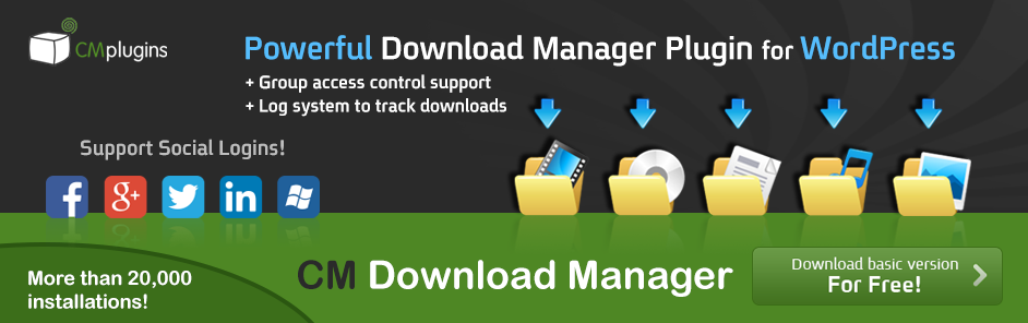 CM Download Manager Wordpress Plugin For Uploads and Downloads